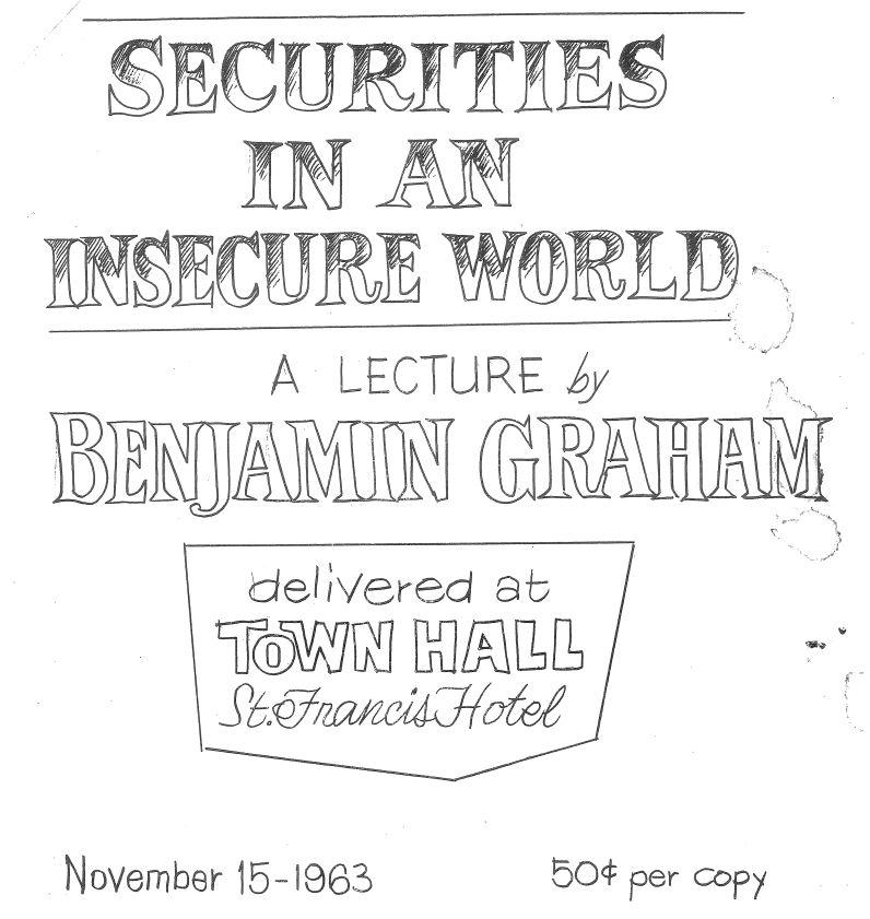 Ben Graham Speech 4.10